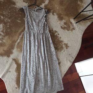 Grey Lace Babydoll Dress